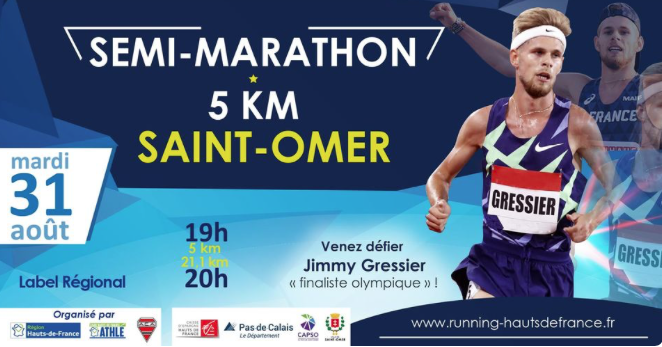 Participez au 5km ou Semi St Omer – 31 août